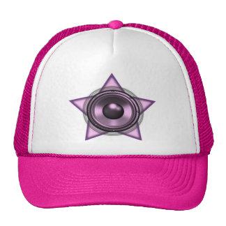 Pink Womens Sub Bass Woofer Star Trucker Hat