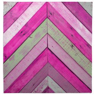 Pink wood cloth napkin