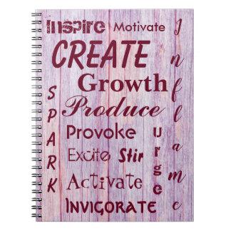 Pink Wood Image Encouragement Notebook