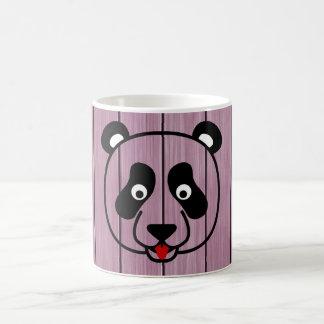 Pink Wood Panda Face 11 Oz Magic Heat Color-Changing Coffee Mug