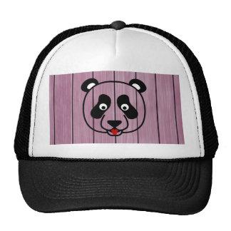 Pink Wood Panda Face Trucker Hat