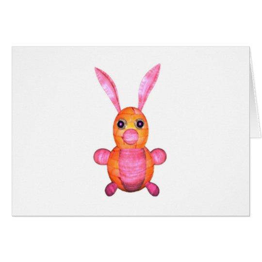 Pink wood rabbits by Valxart.com Card