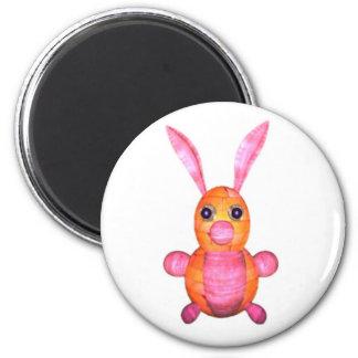 Pink wood rabbits by Valxart.com Magnet