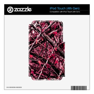 Pink Woodland Camo iPod Touch 4G Decal