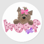 Pink Woof Dog Sticker