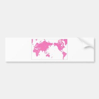 PINK WORLD BUMPER STICKER