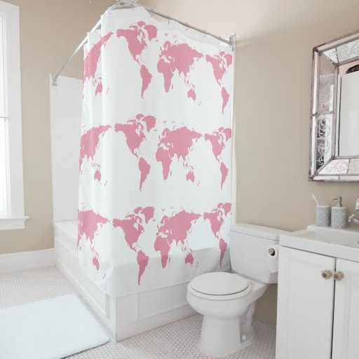 Girly bathroom shower curtains for Girly bathroom accessories