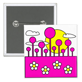 Pink World Pinback Button