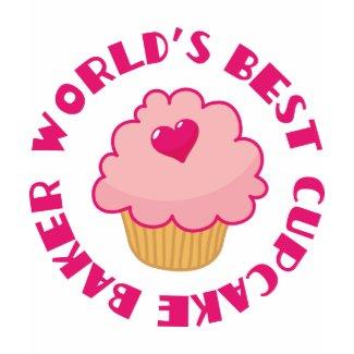 Pink World's Best Cupcake Baker Gift shirt
