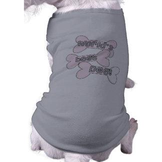 Pink World's Best Dog Tshirt