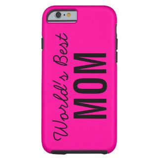 Pink World's Best Mom Custom iPhone 6 Case