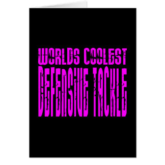 Pink Worlds Coolest Defensive Tackle Card