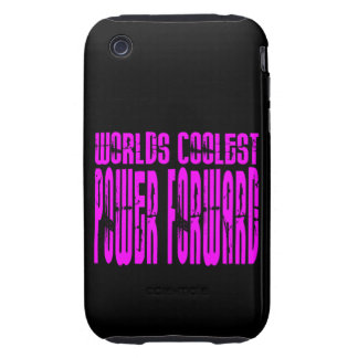 Pink Worlds Coolest Power Forward Tough iPhone 3 Cases