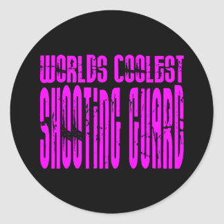 Pink Worlds Coolest Shooting Guard Classic Round Sticker