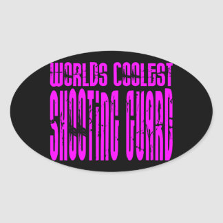 Pink Worlds Coolest Shooting Guard Oval Sticker