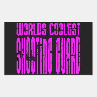 Pink Worlds Coolest Shooting Guard Rectangular Sticker