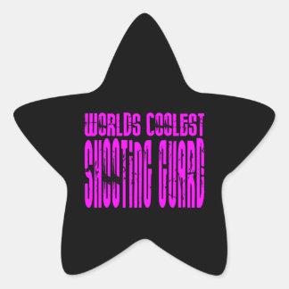 Pink Worlds Coolest Shooting Guard Star Sticker