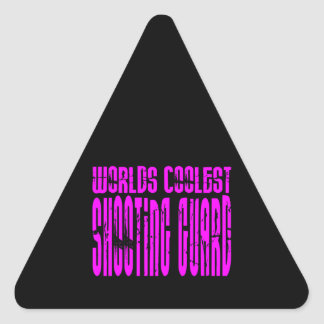 Pink Worlds Coolest Shooting Guard Triangle Sticker