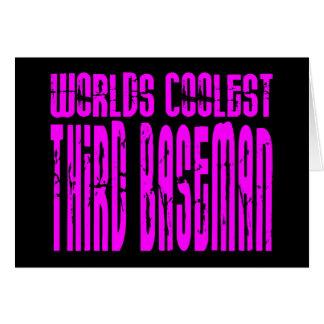 Pink Worlds Coolest Third Baseman Card