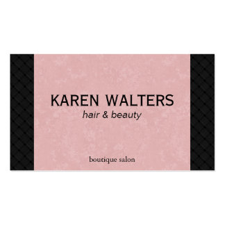 Pink & Woven (appointment card) Business Card