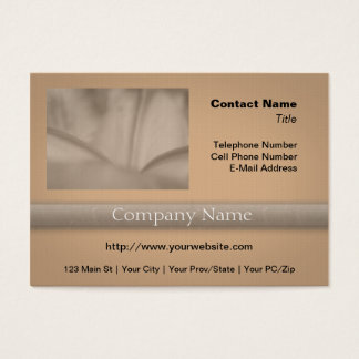 Pink Wrinkled Flower Closeup Texture Business Card