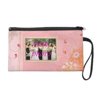 Pink Wristlet Cosmetic Bag