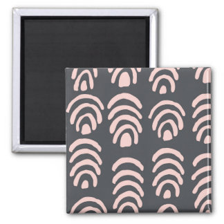Pink X Grey Rounded Brackets 2 Inch Square Magnet