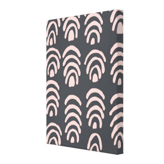 Pink X Grey Rounded Brackets Canvas Print