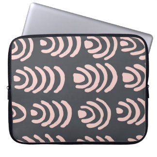 Pink X Grey Rounded Brackets Computer Sleeve
