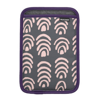 Pink X Grey Rounded Brackets iPad Mini Sleeve