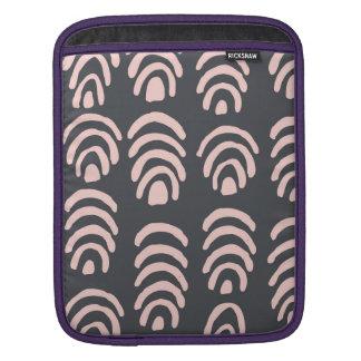Pink X Grey Rounded Brackets iPad Sleeve