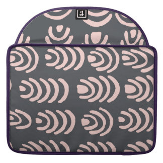 Pink X Grey Rounded Brackets Sleeve For MacBook Pro
