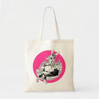 pink/Xaqro rabbit Tote Bag