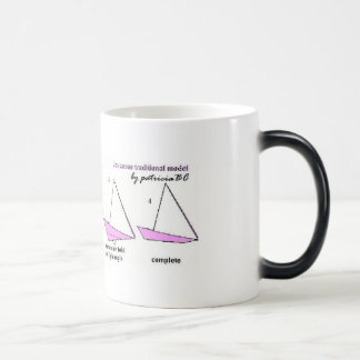 Pink yacht by patriciaBC Magic Mug