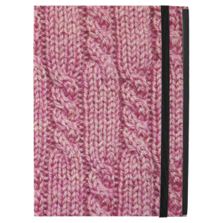 """Pink Yarn Cabled Knit iPad Pro 12.9"""" Case"""