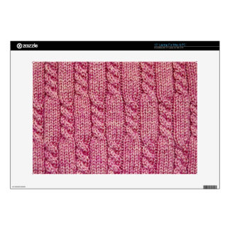 Pink Yarn Cabled Knit Laptop Decals