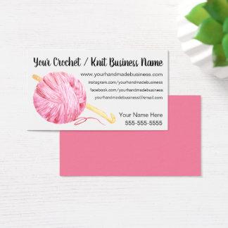 Pink Yarn Crochet Business Card