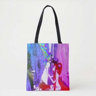 Pink Yarrow Dragon Whisperer Fairy Tote Bag