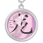 Pink Year of the dragon necklace