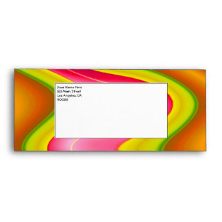 pink yellow abstract envelopes