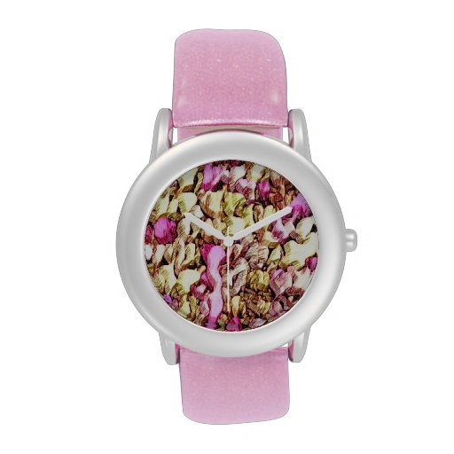 PInk Yellow Abstract Wristwatch