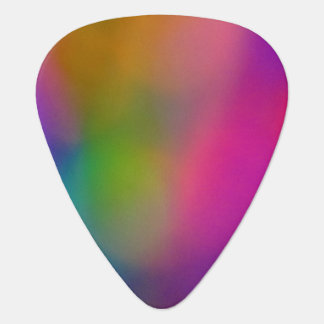 Pink Yellow and Blue Abstract Guitar Pick