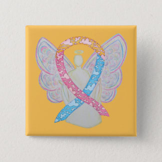 Pink, Yellow, and Blue Clouds CDH Angel Pin