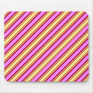 Pink, Yellow, and Orange Striped Mouse Pad
