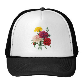 Pink Yellow and Red Carnations by Redoute Trucker Hat
