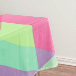 Pink Yellow Aqua Triangle Pastel Tablecloth