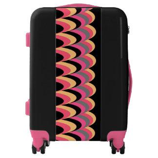 Pink Yellow Black Stylish Pattern Luggage