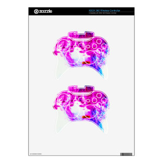 Pink Yellow Blue Ink Drop Fine Art Photography Xbox 360 Controller Skin