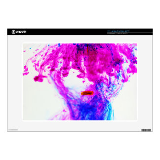 Pink Yellow Blue Ink Drop Fine Art Photography Skins For Laptops
