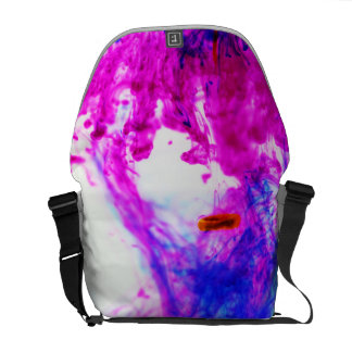 Pink Yellow Blue Ink Drop Photography Bag Courier Bag